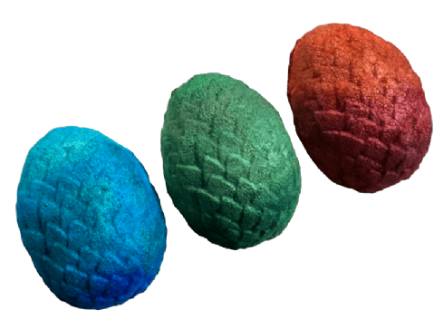 Dragon Egg Multicoloured Foaming Bath Bomb